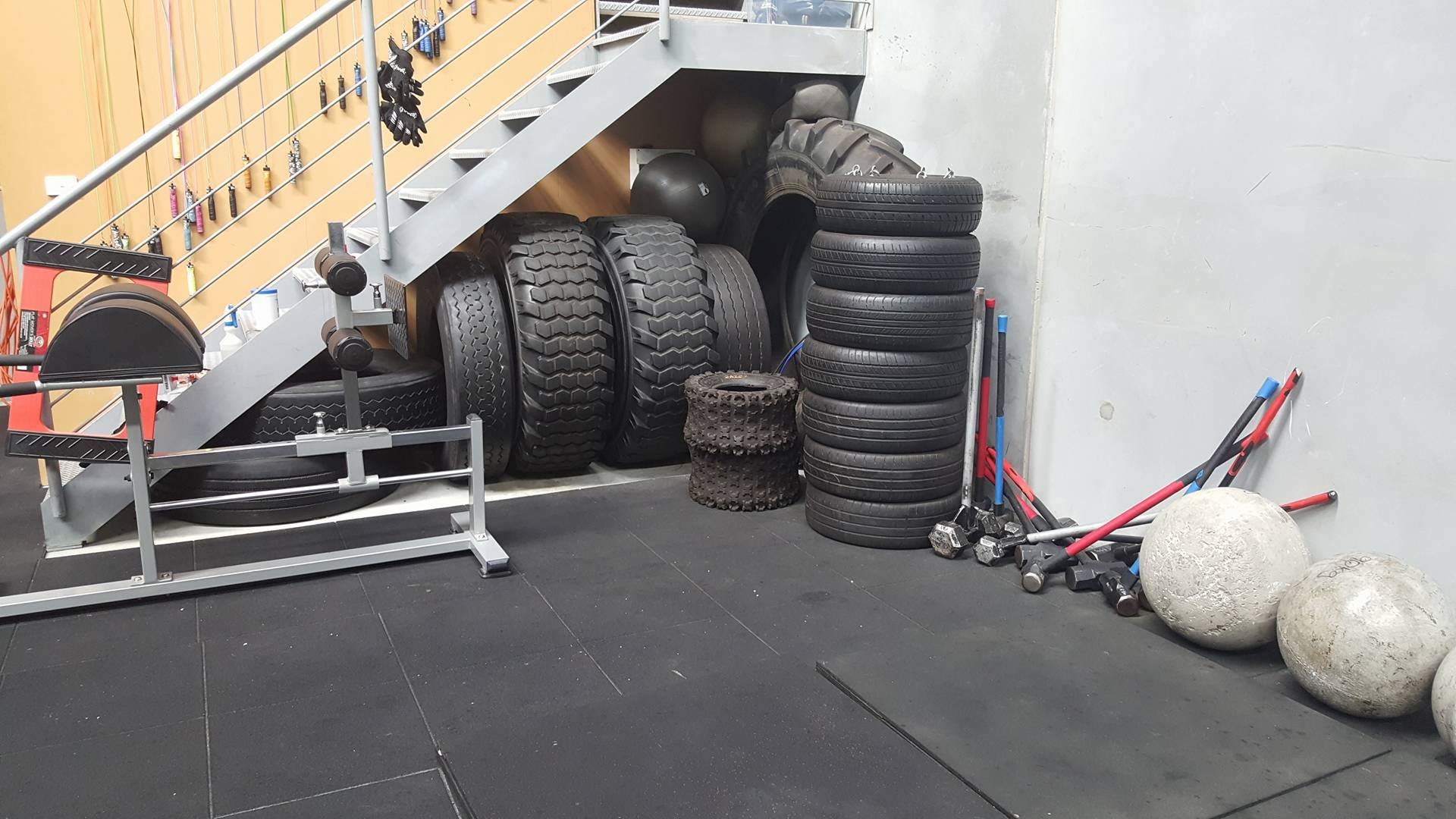 Van Demon Fitness Tires and Sledge Hammers