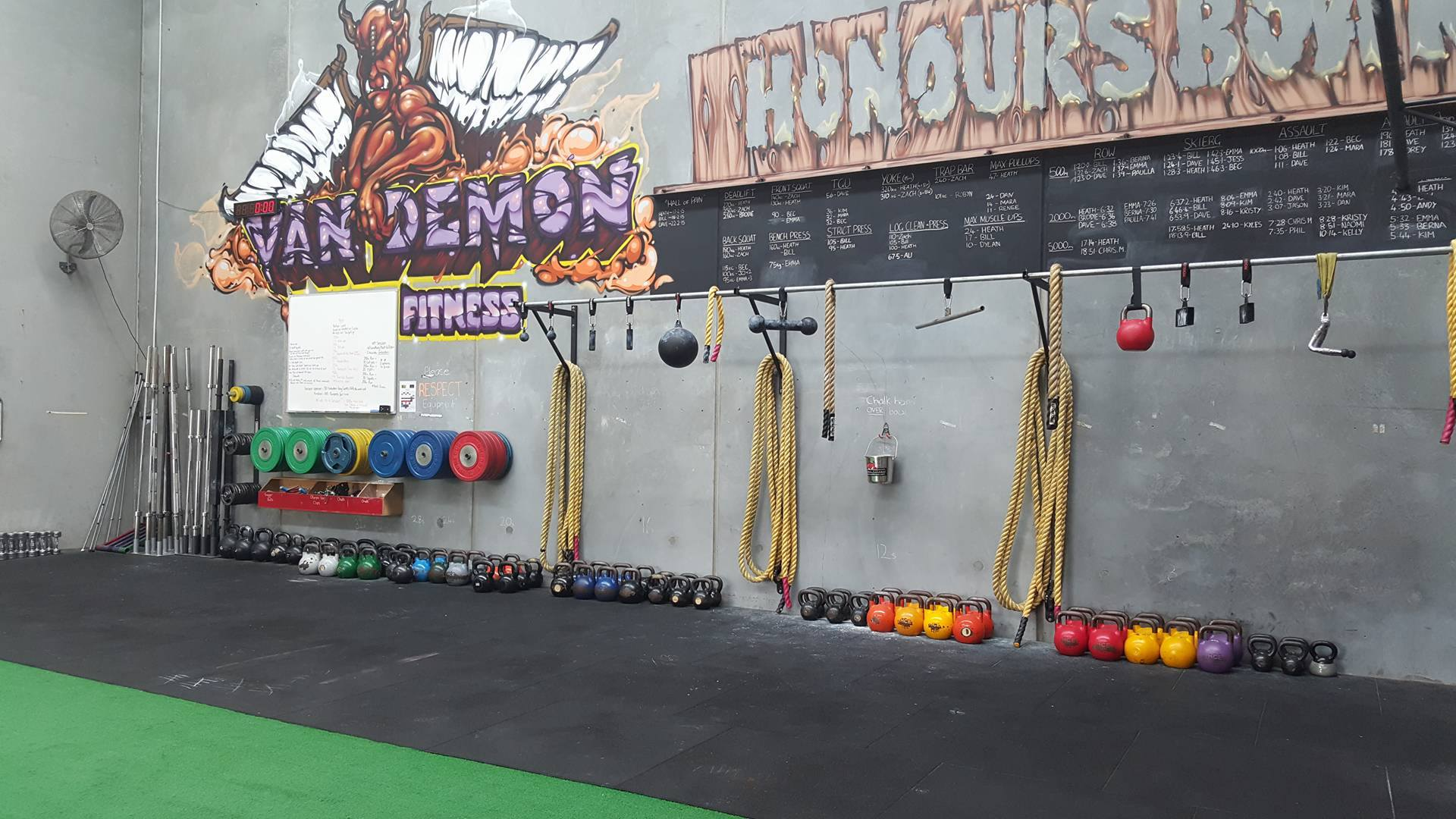Van Demon Fitness Weight Plates and Kettlebells